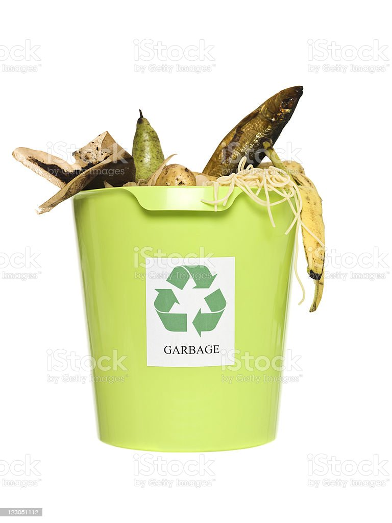 Recycling bin with ort royalty-free stock photo
