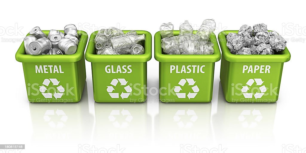 recycling bins royalty-free stock photo