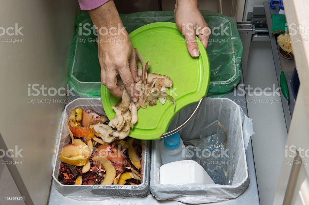 Recycling bins stock photo