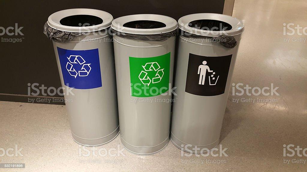 Recycling Bins stock photo
