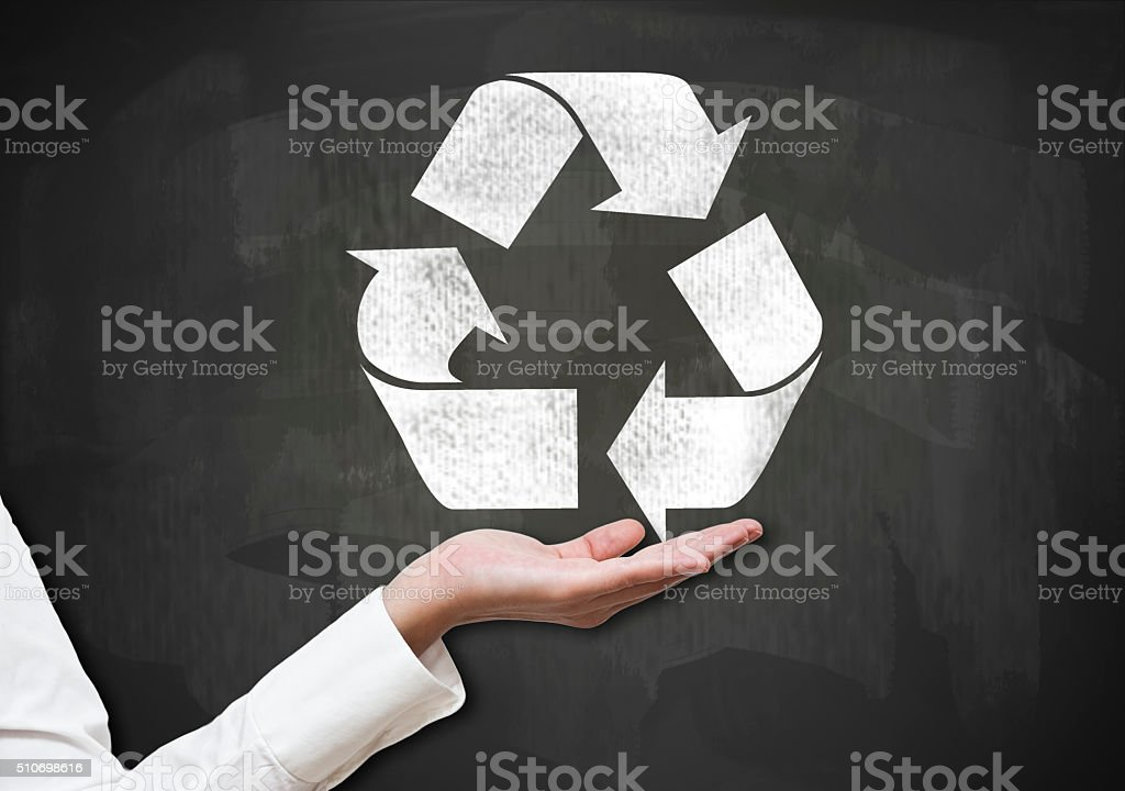 Recycling / Blue Blackboard (Click for more) stock photo