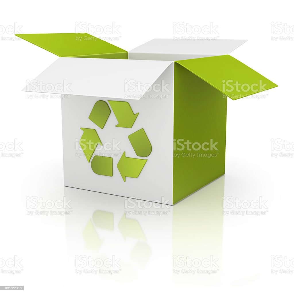 recycling box stock photo