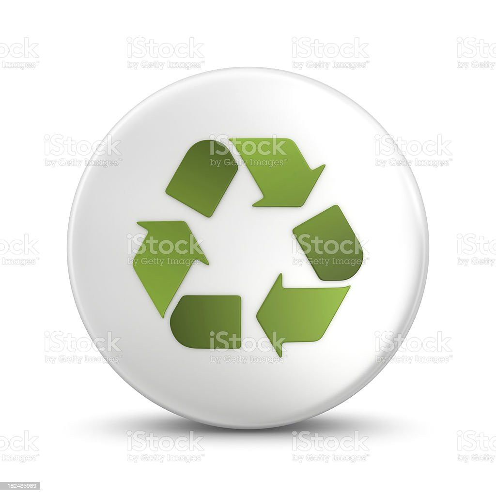 recycling button royalty-free stock photo
