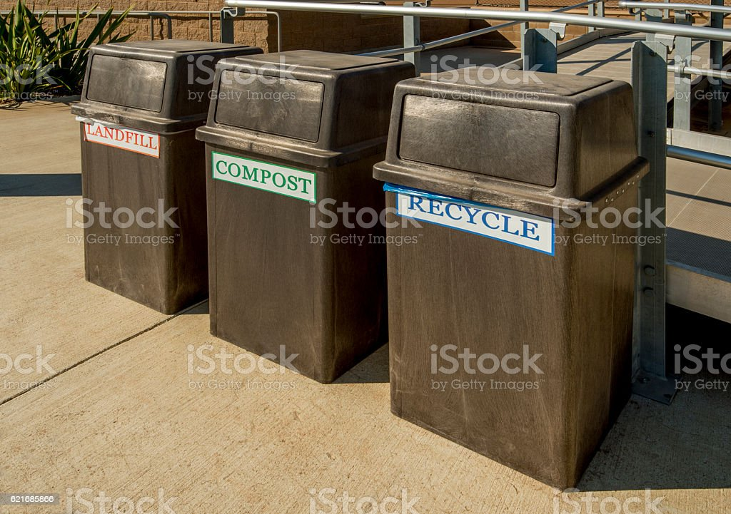 Recycling Cans stock photo