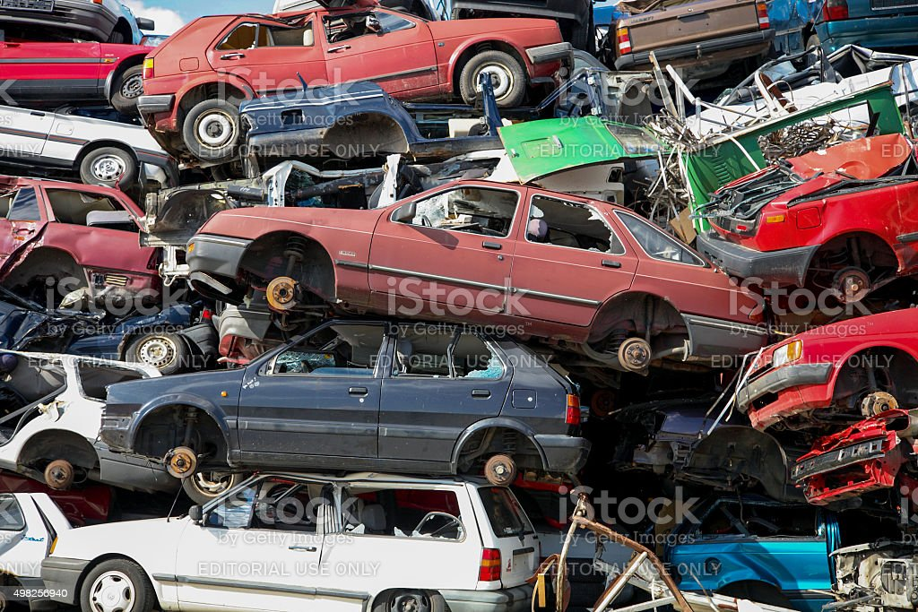Recycling Cars in Germany stock photo
