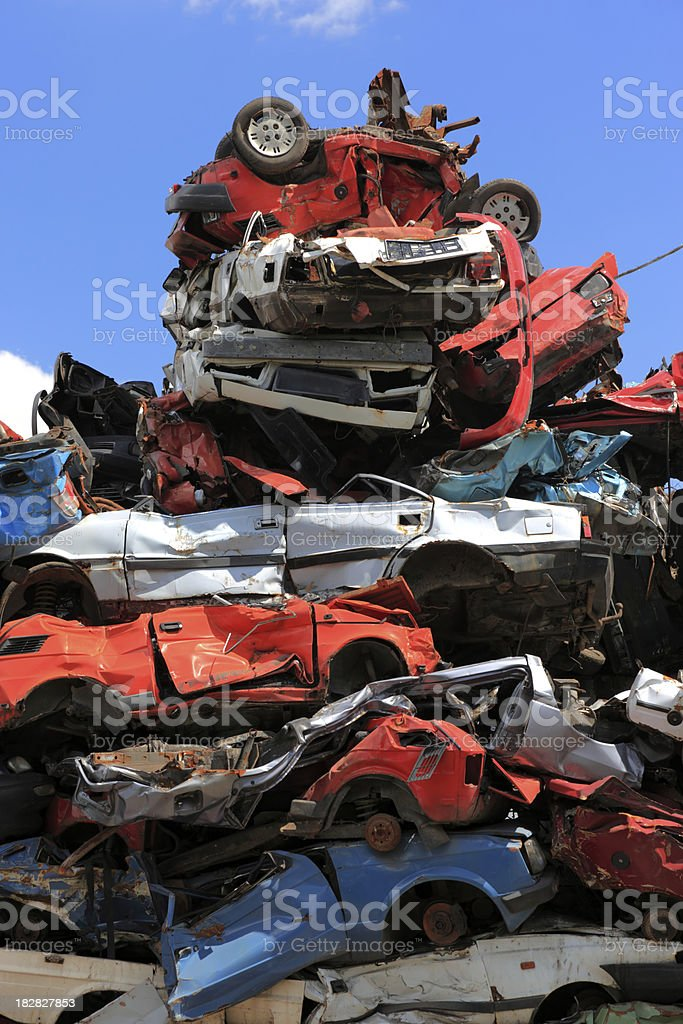 Recycling Cars royalty-free stock photo