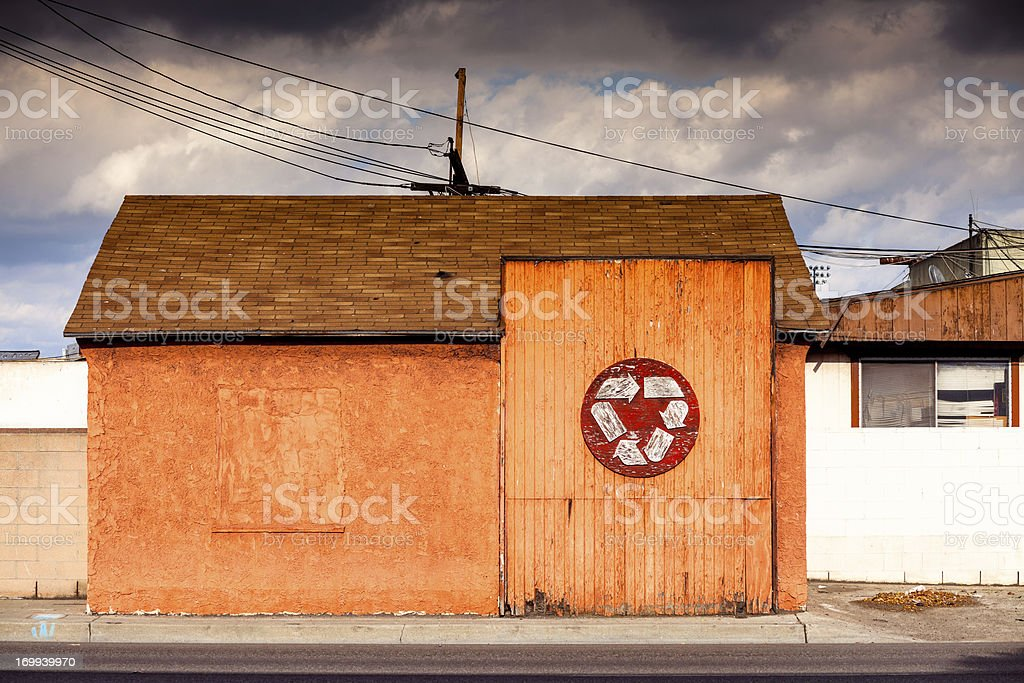 Recycling Center royalty-free stock photo
