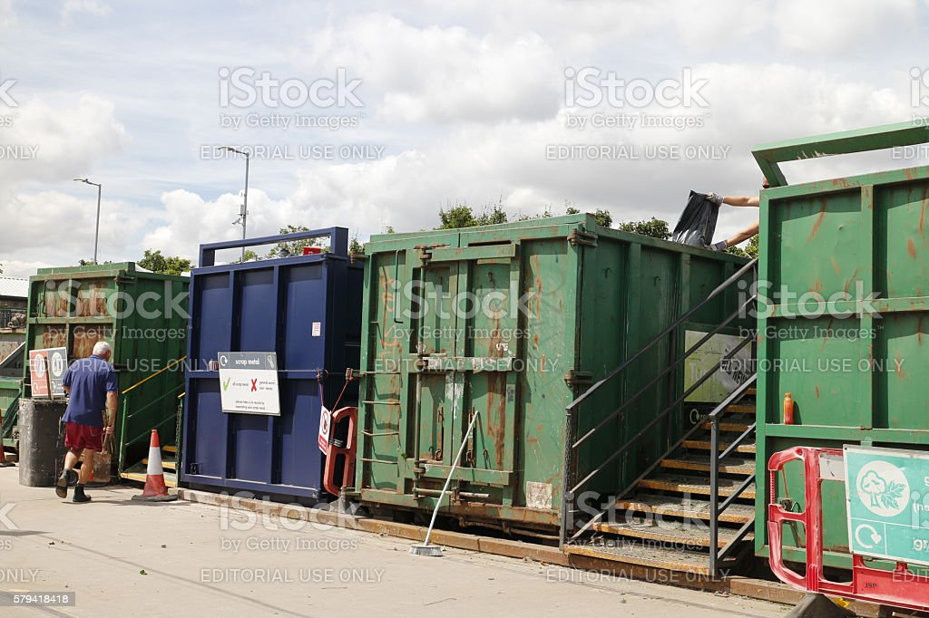 Recycling Centre in Chelmsford, Essex stock photo