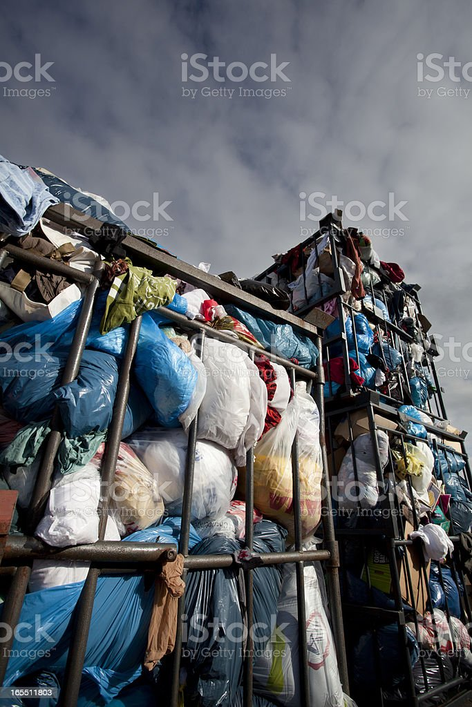 recycling clothing royalty-free stock photo