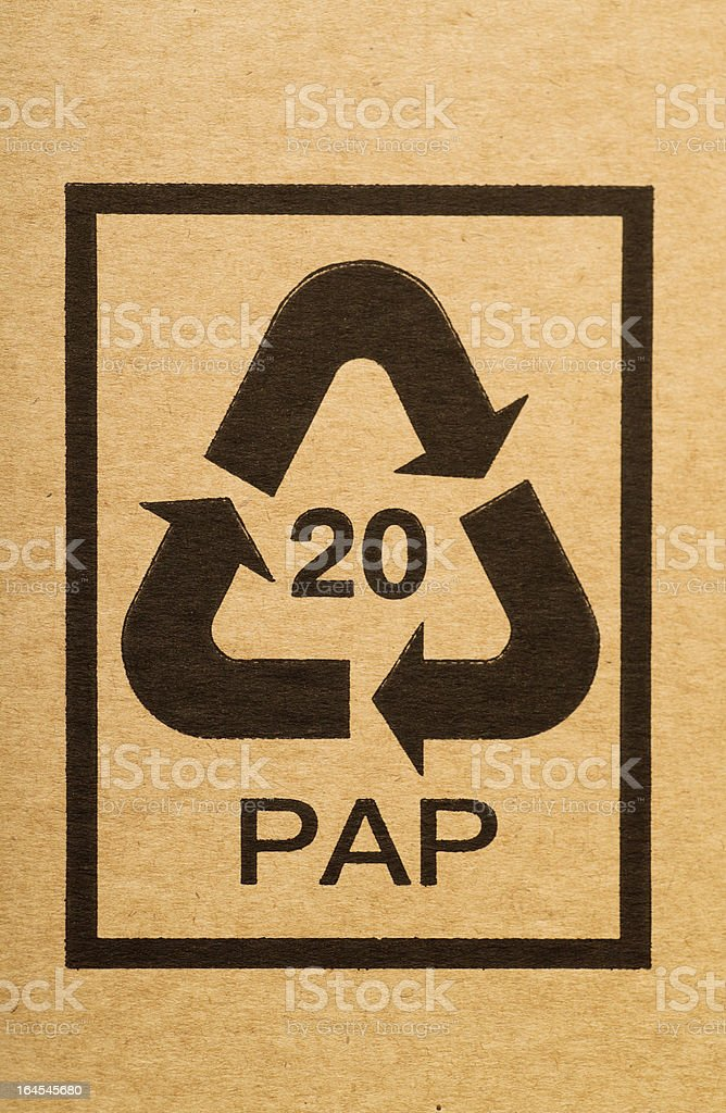 Recycling code royalty-free stock photo