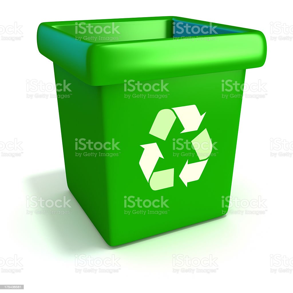 Recycling container stock photo