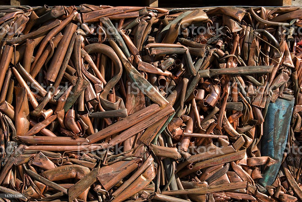 Recycling copper royalty-free stock photo
