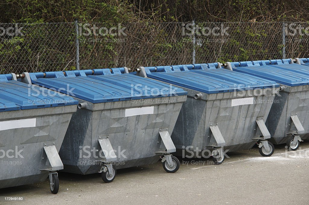recycling depot royalty-free stock photo