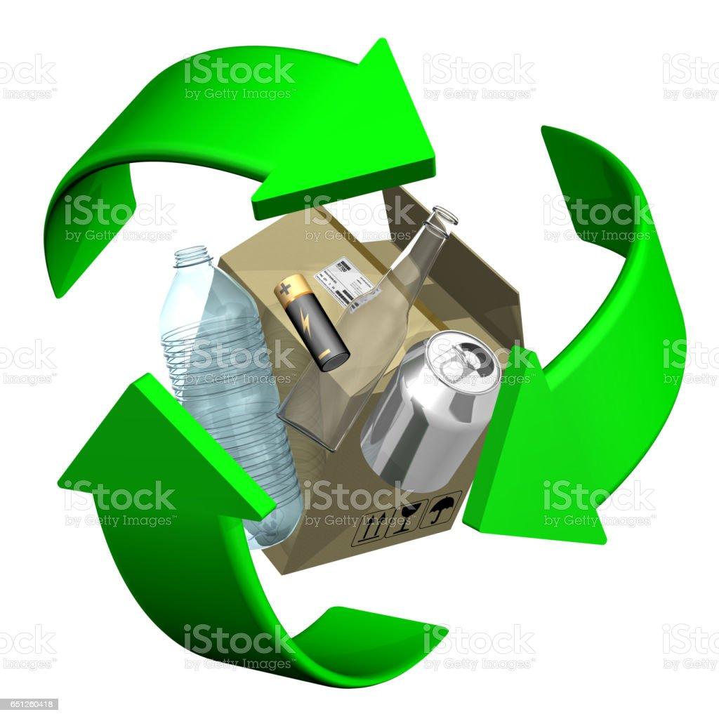 Recycling.  Eco friendly stock photo