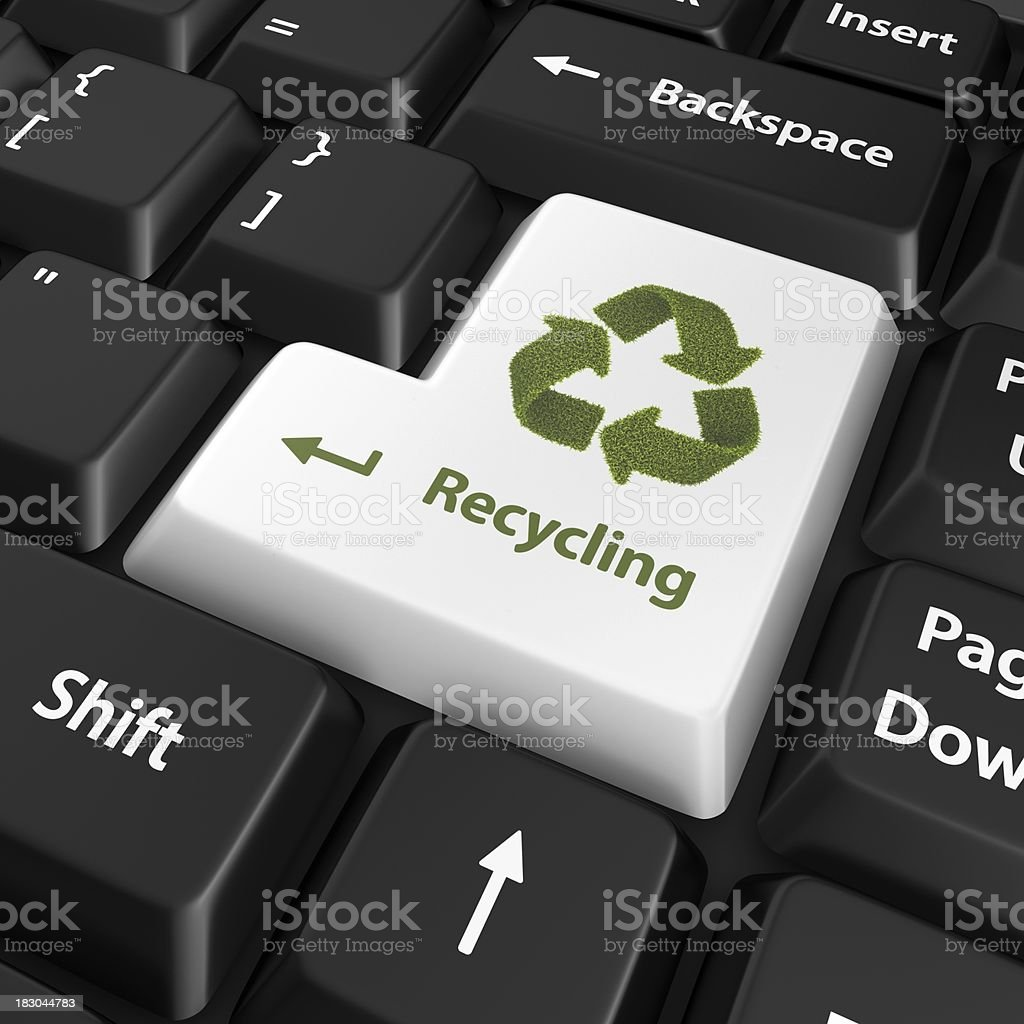 recycling enter key royalty-free stock photo