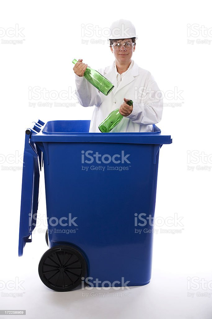 Recycling enthousiasm royalty-free stock photo