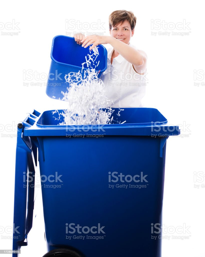 Recycling enthousiasm stock photo