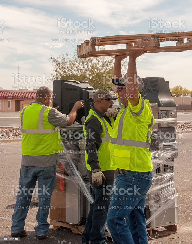 Recycling Event in Las Cruces, New Mexico stock photo