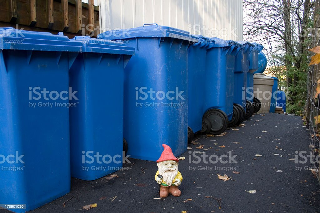 recycling  gnome stock photo