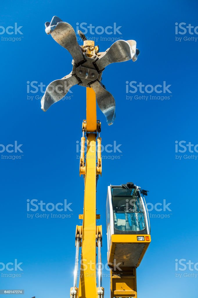Recycling grapple stock photo