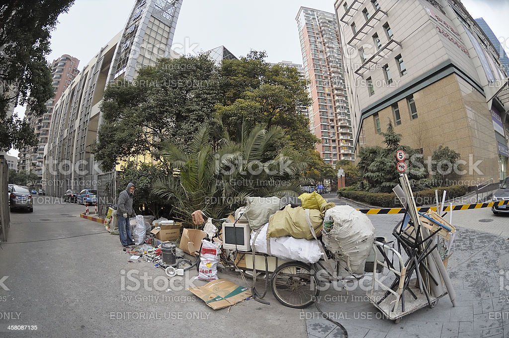Recycling in Shanghai royalty-free stock photo