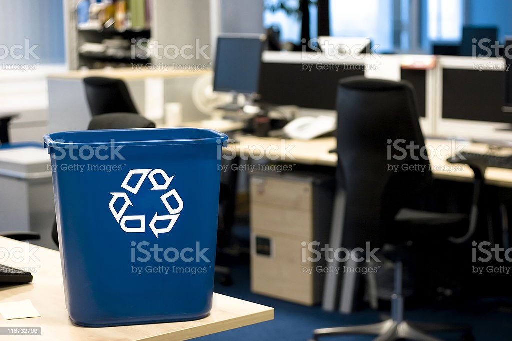 Recycling in the office stock photo