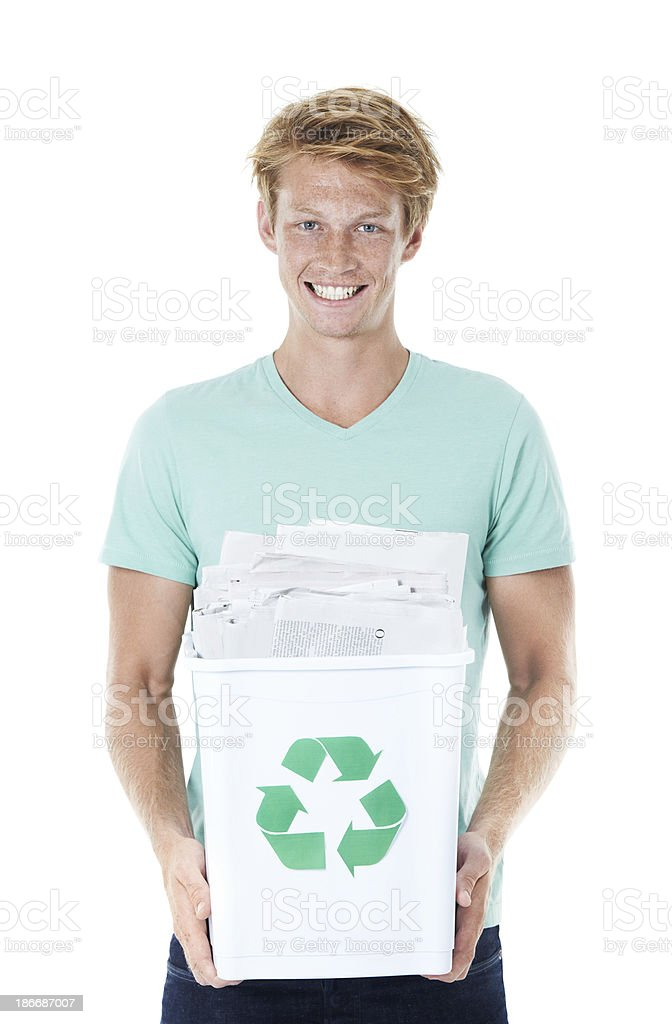 Recycling is everyones's responsibility royalty-free stock photo