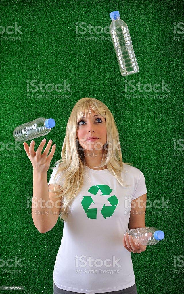 Recycling juggler royalty-free stock photo