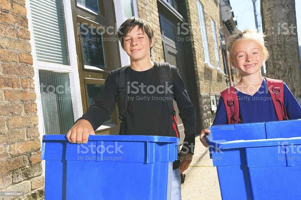 Recycling Kids royalty-free stock photo