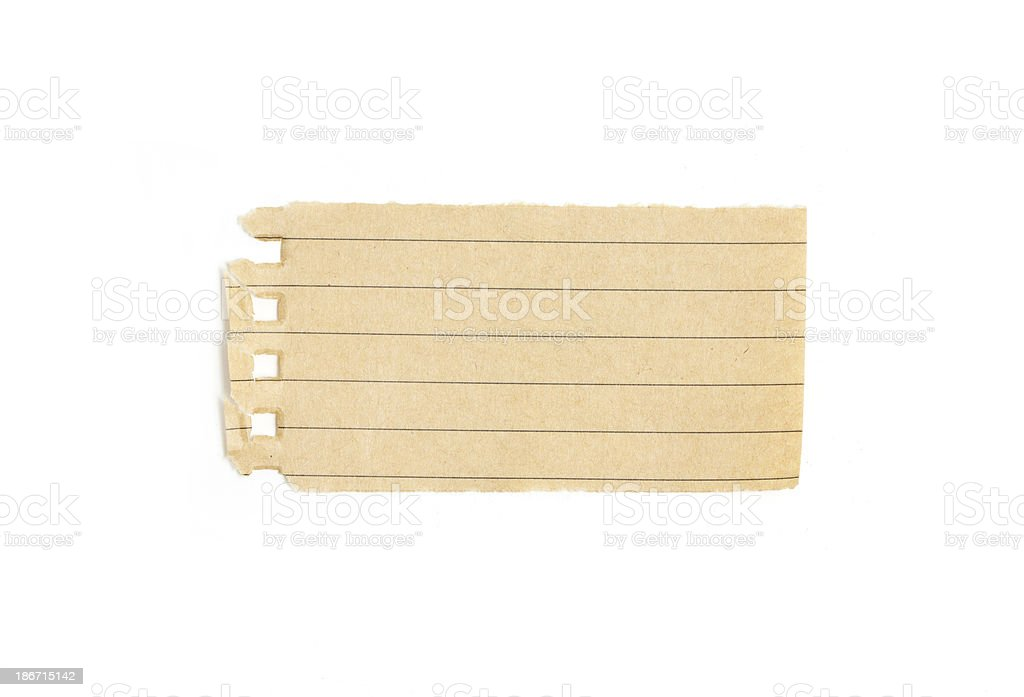 Recycling lined paper scrap isolated on white royalty-free stock photo