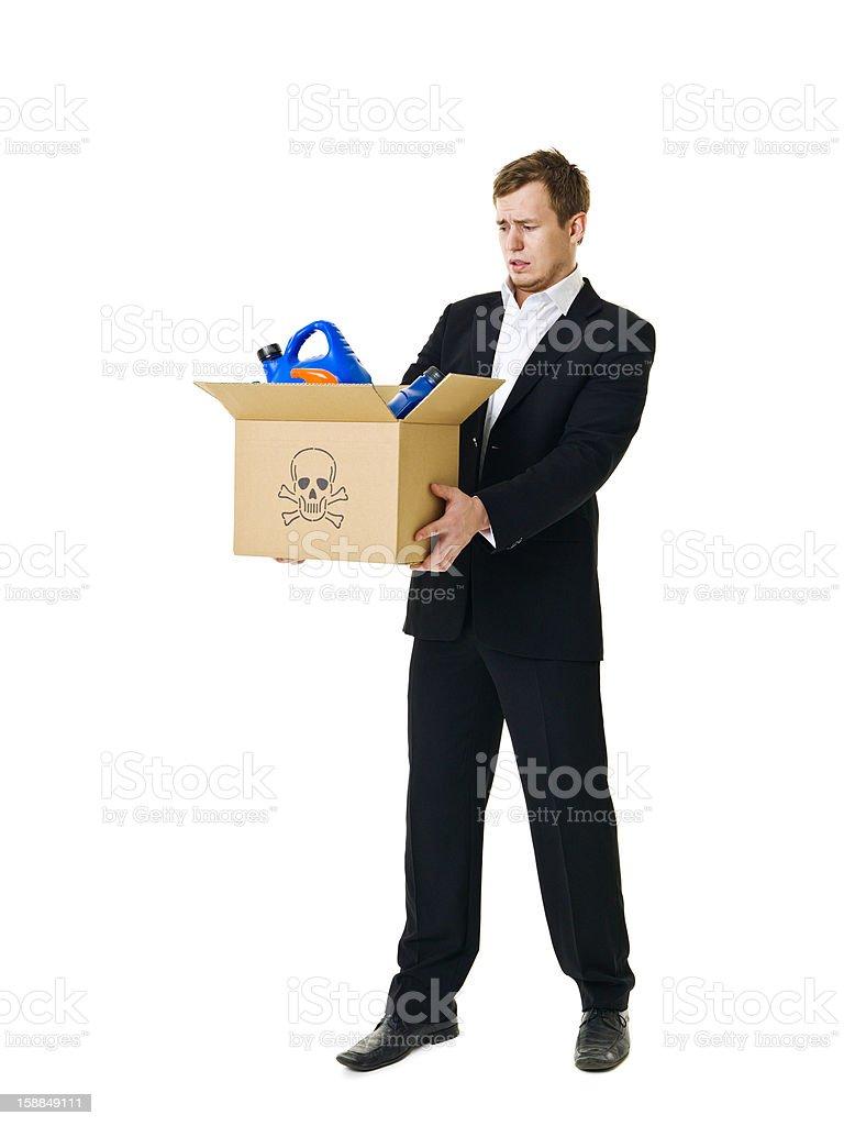 Recycling man royalty-free stock photo