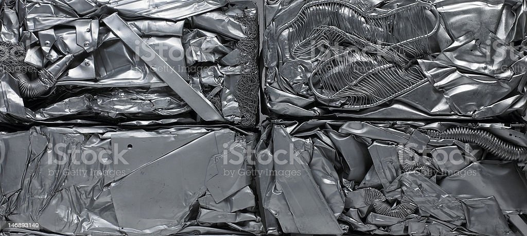 recycling metal background royalty-free stock photo