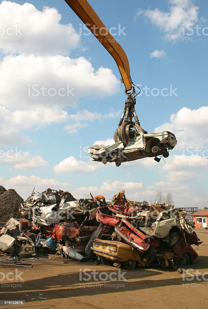 recycling metal stock photo