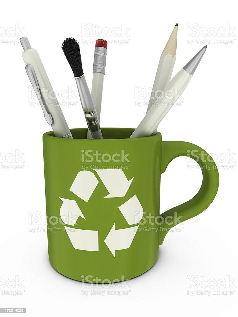 recycling mug royalty-free stock photo