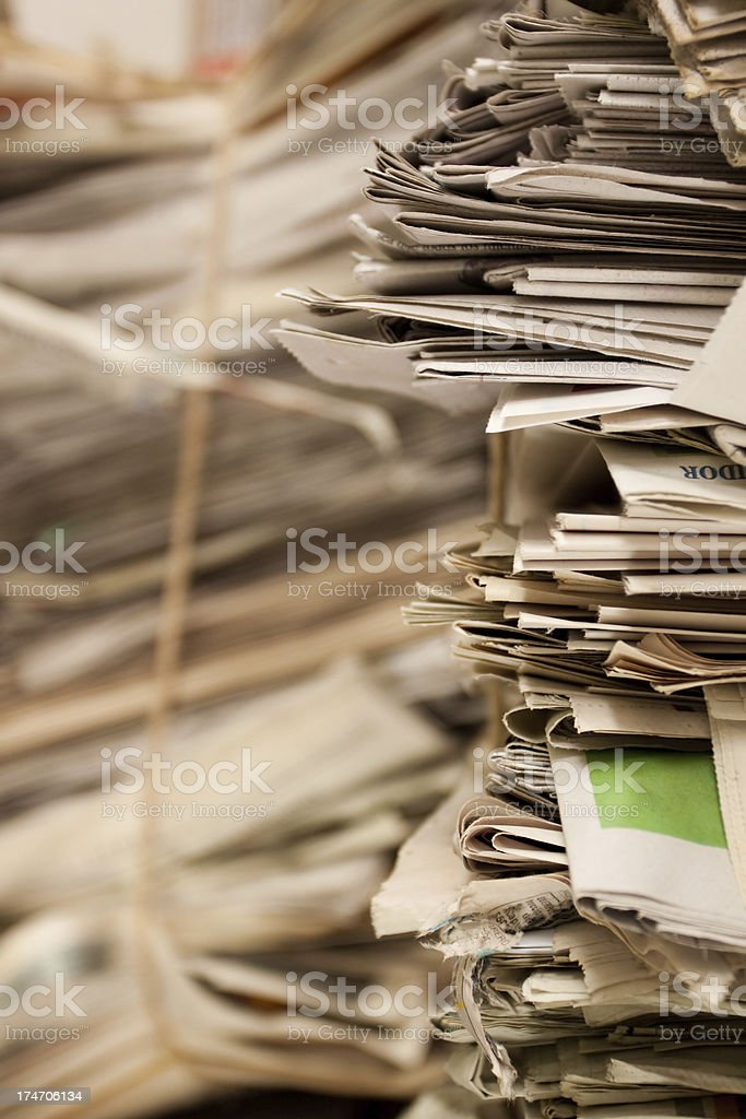 Recycling  newsprint royalty-free stock photo