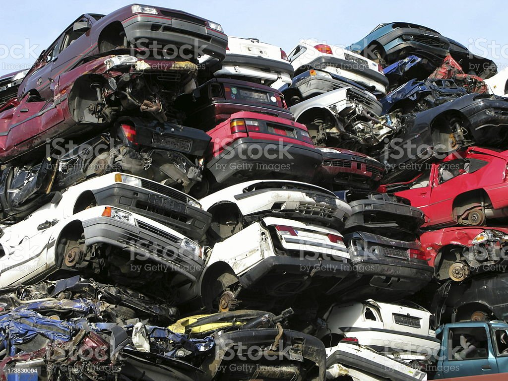 Recycling of cars royalty-free stock photo