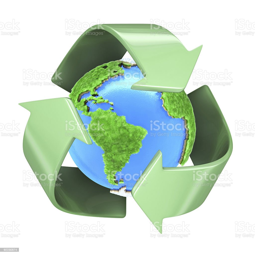 Recycling Planet Earth stock photo