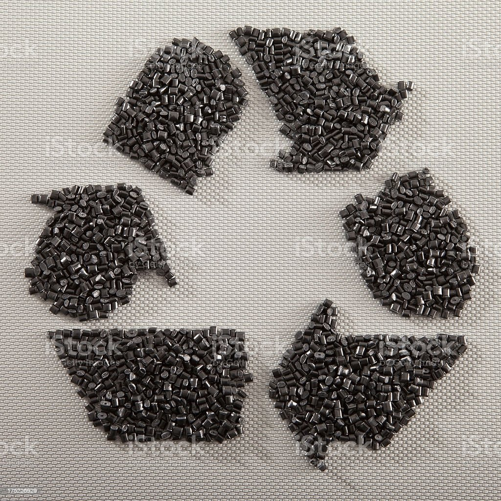 Recycling Plastic Resin Pellets stock photo
