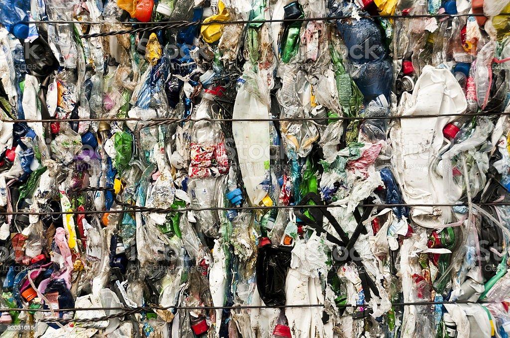 Recycling plastics royalty-free stock photo