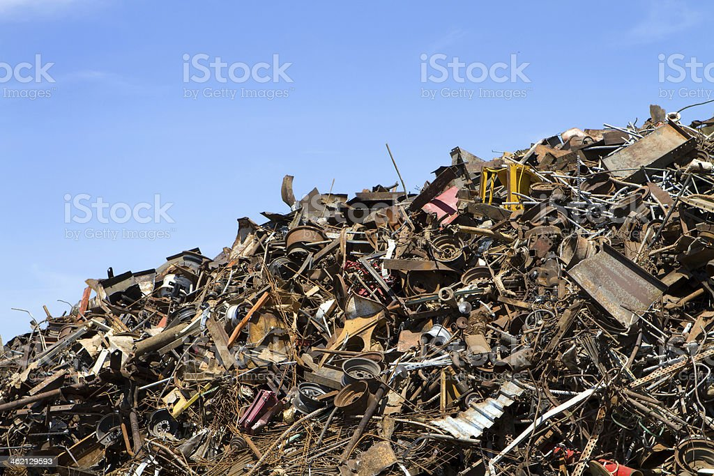 Recycling Scrap Metal royalty-free stock photo