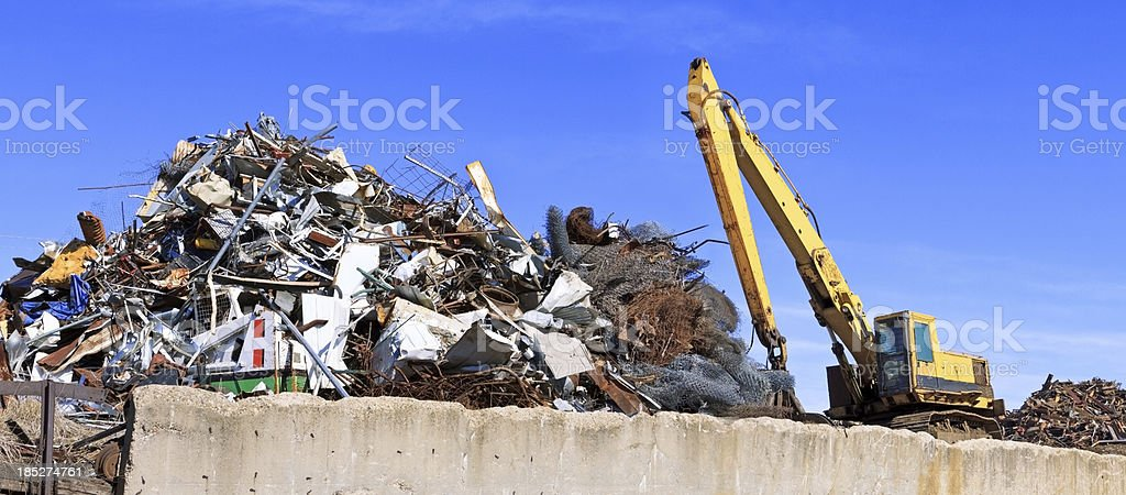 Recycling scrape metal royalty-free stock photo