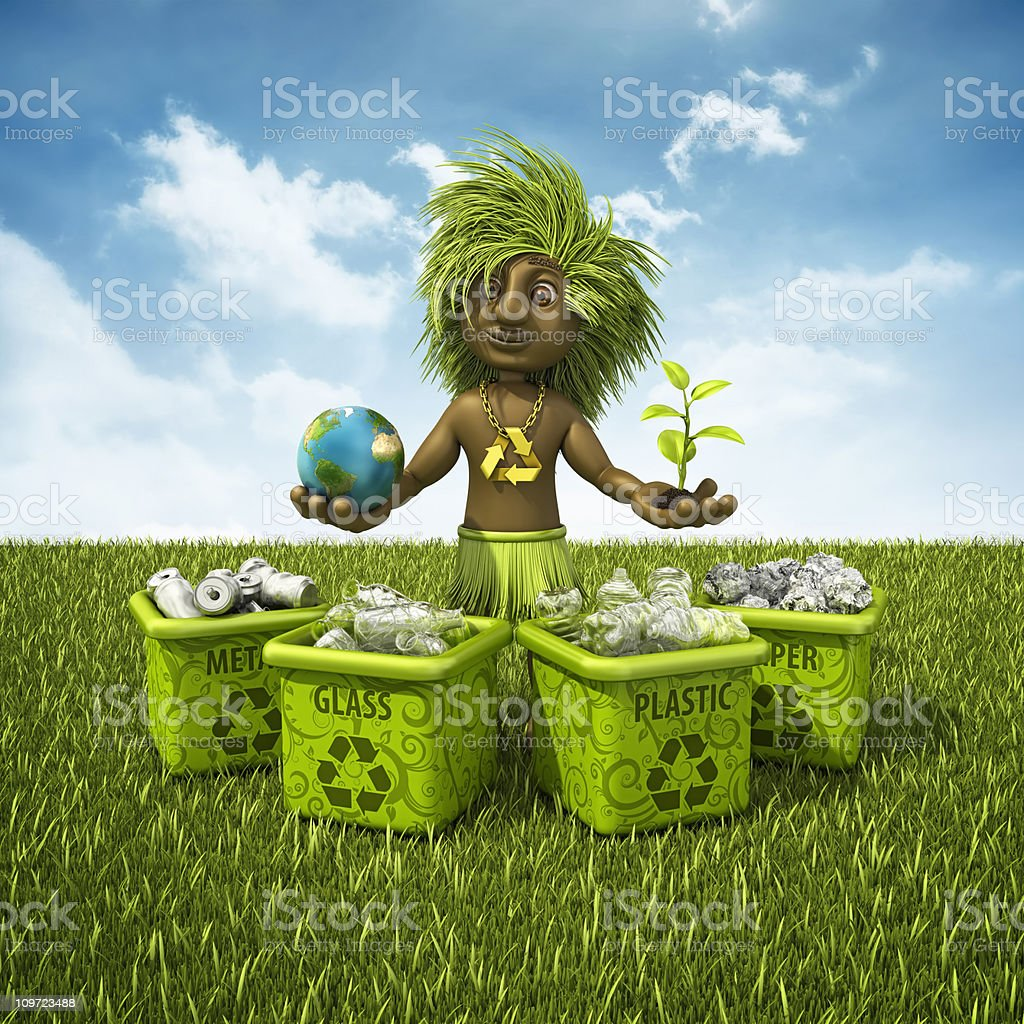 recycling shaman royalty-free stock photo