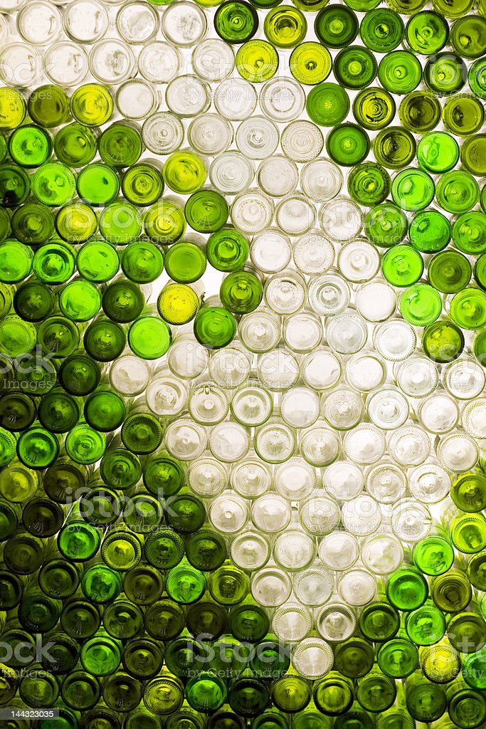 Recycling sign made out of empty bottles royalty-free stock photo