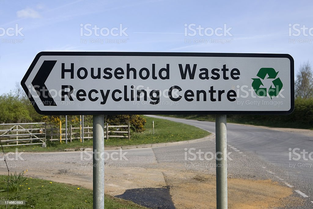recycling sign royalty-free stock photo
