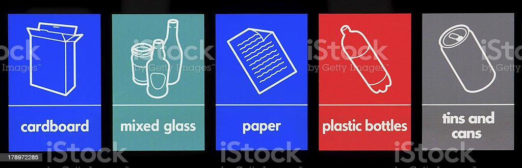 Recycling signs royalty-free stock photo