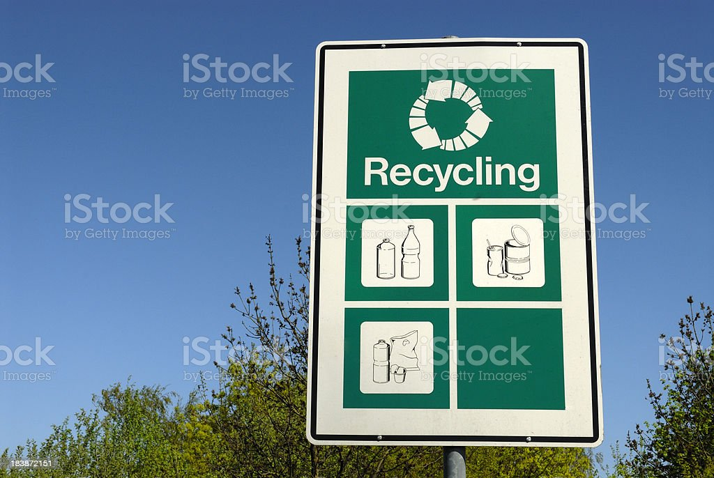recycling station royalty-free stock photo