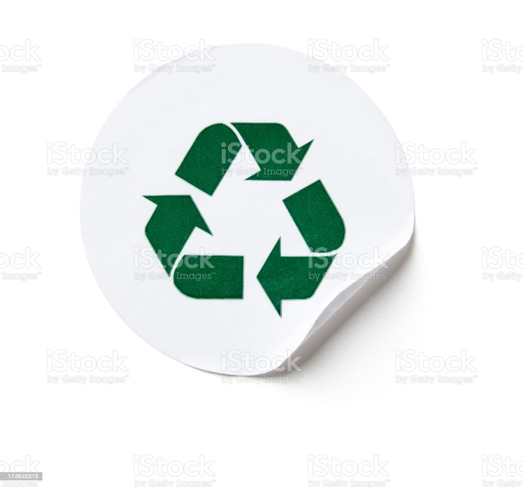 Recycling sticker royalty-free stock photo