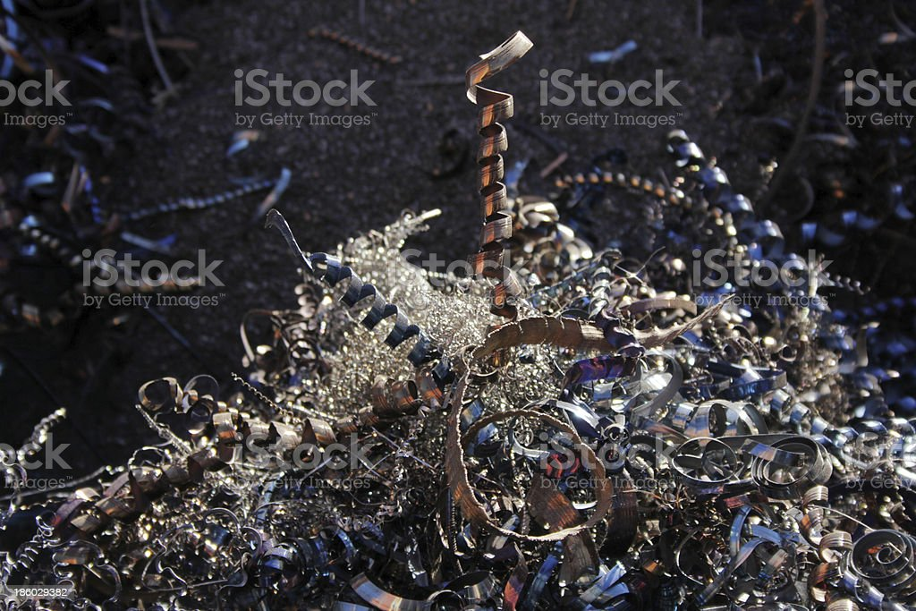 Recycling swarf royalty-free stock photo