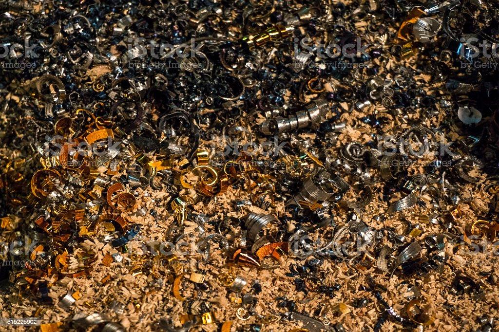 Recycling swarf stock photo