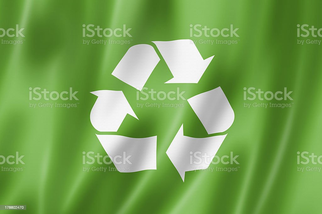 recycling symbol flag royalty-free stock photo